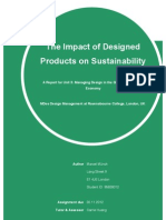The Impact of Designed Products on Sustainability