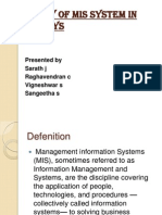 Study of Mis System in Infosys