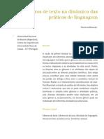 Os gêneros de texto na dinâmica das práticas de linguagem