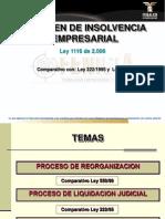 Comparativo Ley 1116 Con Ley 550 y 2221