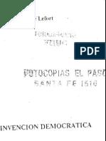 33729104 Claude Lefort La Imagen Del Cuerpo y El Totalitarismo