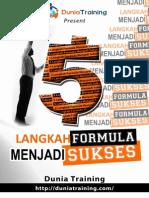 5 Langkah Formula Menjadi Sukses