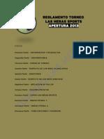 Reglamento Torneo Las Heras - Apertura 2013 - 2