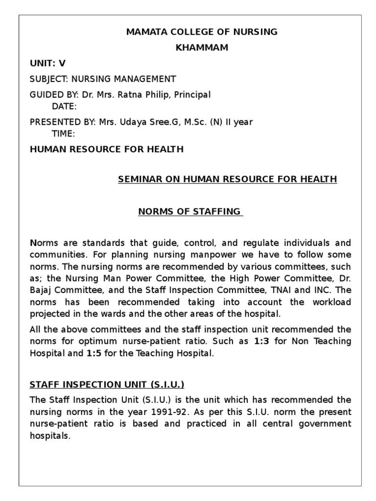 Norms of Staffing in Nursing   Shift Work   Nursing