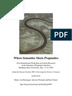 Where Semantics Meets Pragmatics