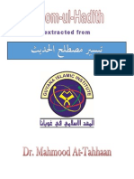 Notes on the Science of Hadith extracted from tayseer mustualahal hadith By Dr. Mahmood At-Tahhaan