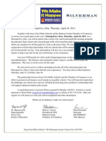 2013 Jersey City Public Schools Principal for a Day Invitation Letter and Registration Form