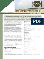 Monsanto's Seed Company Subsidiaries