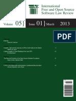 ifosslr-v5i1 Internation FOSS law review