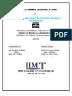 Employee Welfare Activities in Bhel