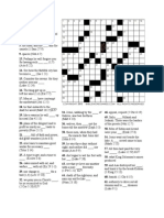 Crossword 160 and Solution
