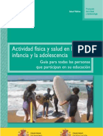Actividad Fisica y Salud en La Infancia y La Adolescencia