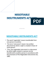 3.Negotiable Instrument Act