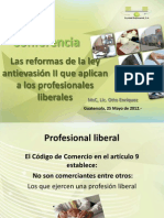 Conferencia Reformas Fiscales y Profesionales Liberales