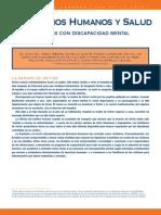 OPS- Derechos Humanos y Salud- Personas Con Discapacidad Mental- 2008