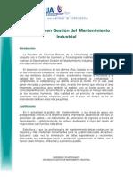 Diplomado en Mantenimiento Industrial 2013