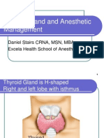 Thyroid Gland and Anesthetic Management
