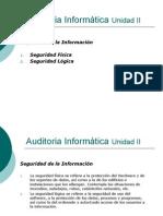 Auditoria Informatica Clases 7 Unidad II Seguridad
