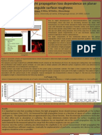 Determination of light propagation loss dependence on planar waveguide surface roughness