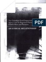 The Canadian Food Inspection Agency and Its Regulated Parties, Stakeholders and Partners
