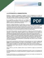 Lectura 2. La actividad de la administración. Procedimiento administrativa Actividad contractual