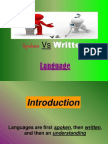 Spoken vs Written p