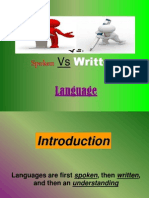 Spoken vs Written p