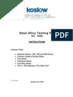 Steel Alloy Testing Op
