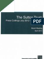 Sutton Trust Recent Press Cuttings