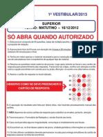 Prova Superior - 2013-1