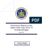 2013-14 Enacted Budget Preliminary Report 4 11 2013