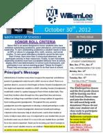 9th Newsletter 10-30-2012