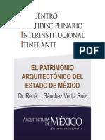 EL PATRIMONIO ARQUITECTÓNICO DEL ESTADO DE MÉXICO - Dr. René Lauro Sánchez Vértiz Ruiz