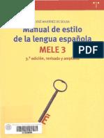 Delgado Lopez-Cozar, E Presentacion en Martinez de Sousa, J Manual de Estilo de La Lengua Espannola