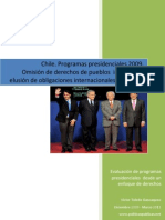Chile, Programas Presidenciales 2009 y Derechos Pueblos Indigenas