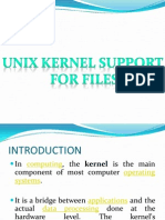 Unix Kernel Support for Files