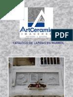 CATALAGO LÁPIDAS EN MARMOL CODIFICADAS 2013