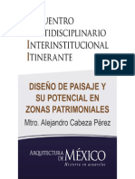 DISEÑO DE PAISAJE Y SU POTENCIAL EN ZONAS PATRIMONIALES - Mtro. Alejandro Cabeza Pérez