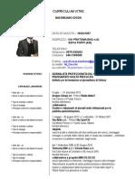 Il Curriculum vitae di Massimiliano Cocchi (aggiornato al 1 aprile 2013)