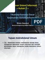 Kuliah 1 Keamanan Sistem Informasi Konsep Konsep Dasar