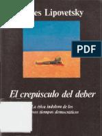 Lipovetsky El Crepusculo Del Deber (1)