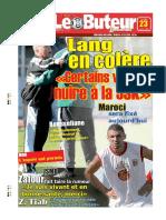 LE BUTEUR PDF du 23/03/2009