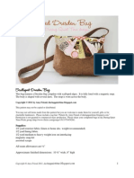 Scalloped Dresden Bag Free Pattern