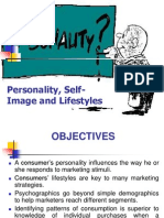 Personality Self-Image and Lifestyles
