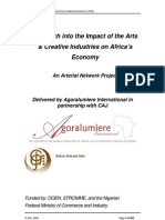 Collation of Research on the Impact of Art, Culture and Creative Industries in Africa