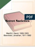 Secret Societies - MacDill, David