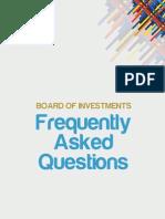 Philippine Bureau of Investment FAQ in English