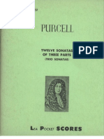 Twelve Sonatas of Three Parts Henry Purcell