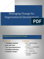 Managing Change for Organizational Development