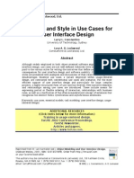 (eBook - PDF - Gui) Structure and Style in Use Cases for User Interface Design